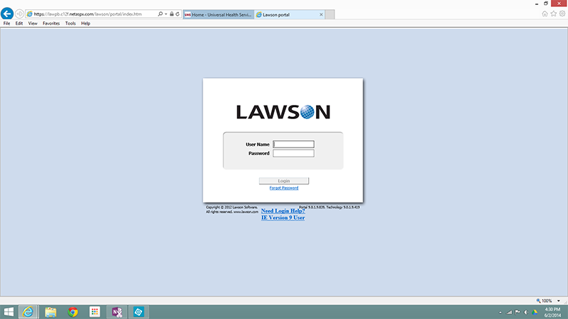 Lawson screen