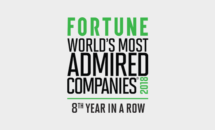Fortune worlds most admired companies 2018