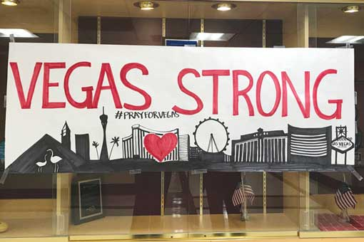 Vegas strong banner, Valley health system