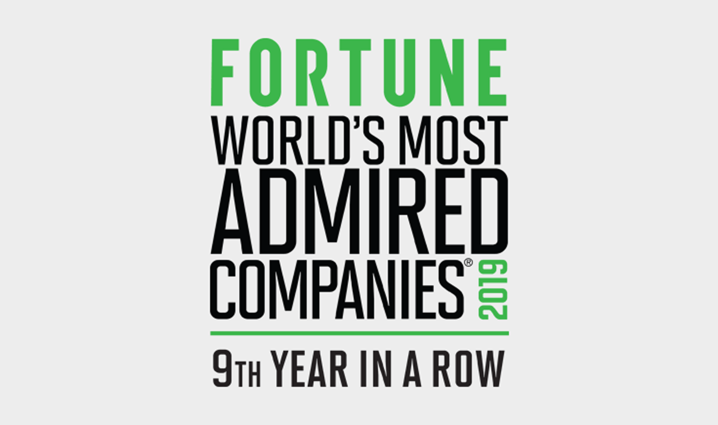 Fortune Worlds most admired companies 2019 -- 9th year in a row