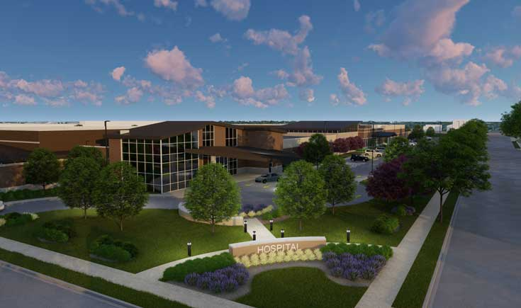rendering for West Allis Behavioral Health Hospital