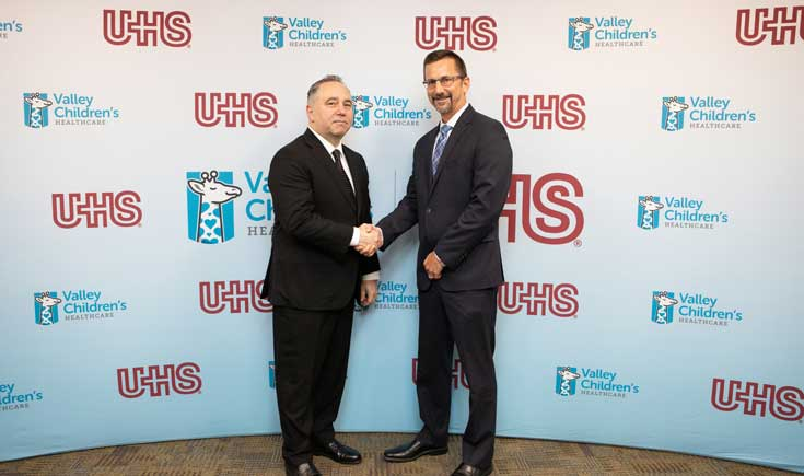 Todd Suntrapak, CEO Valley Children's Healthcare and Mike Zauner, Group Director and CEO Sierra Vista Hospital, UHS