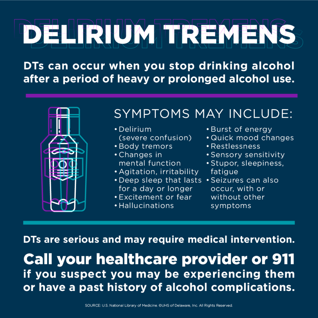 Alcohol Withdrawal--call 911 if you experience symptoms