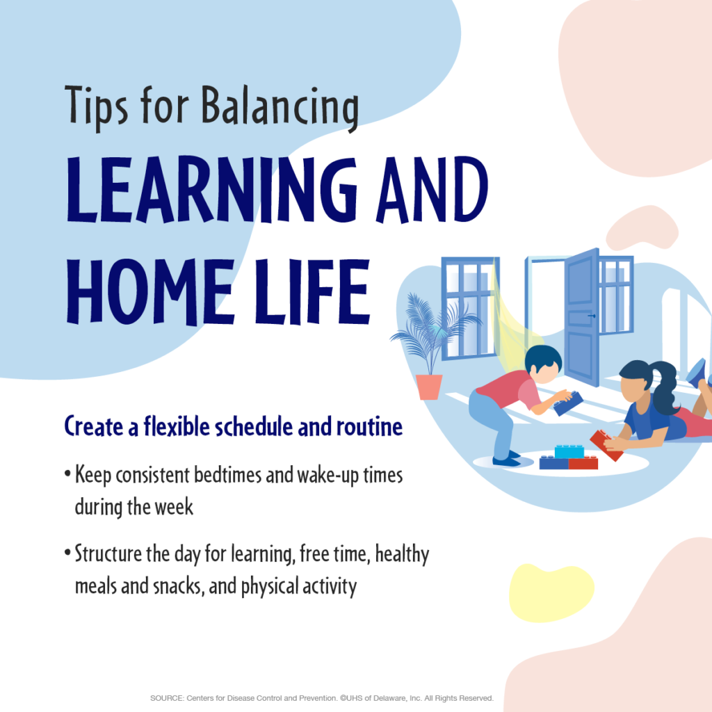Work/Life balance: create a flexible schedule and routine