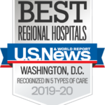 U.S. News and World Report Best Regional Hospitals Washington, D.C. 2019-2020
