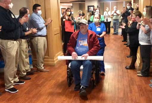 Jimmy Blaser discharge from St Marys Regional Medical Center
